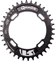 Q RINGS OVAL CHAINRING BCD104x4 Q34T