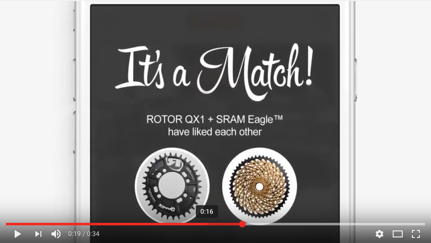 ROTOR Bike-dating: QX1 + SRAM Eagle™